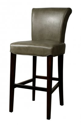 Turned back bentley Leather bar/counter stool quarry color