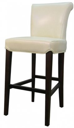 Turned back bentley Leather bar/counter stool beige color