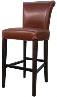 Turned back bentley Leather bar/counter stool cognac color