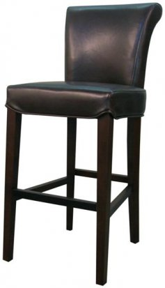 Turned back bentley Leather bar/counter stool mocha color