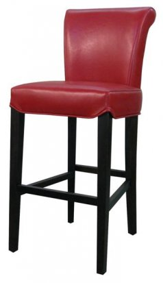 Turned back bentley Leather bar/counter stool red color