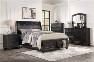 Laurelin Bedroom Set Black Finish by Homelegance Item 1714BK
