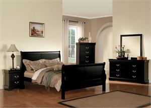 Louis Philippe III Black Bedroom Set item 19500 by Acme Furniture