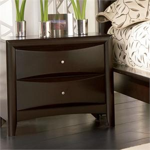 Espresso Nightstand - Pheonix Collection item 200412 by Coaster Furniture