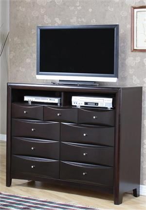 Espresso Media Chest - Pheonix Collection item 200416 by Coaster Furniture