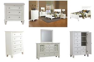 Sandy Beach White Bedroom Collection by Coaster #201301