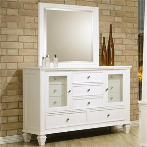 Dresser Sandy Beach White Bedroom Collection item 201304 by Coaster Furniture