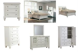 Sandy Beach White Storage Bedroom Collection by Coaster #201309