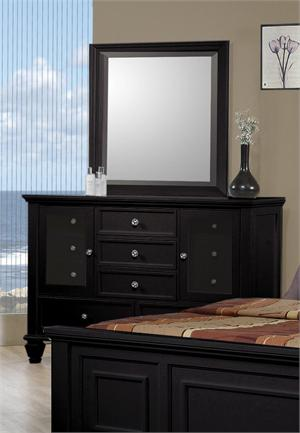 Sandy Beach Black Dresser and Mirror item 201323 and 201324 by Coaster Furniture