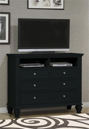 Sandy Beach Black Media Chest item 201326 by Coaster Furniture