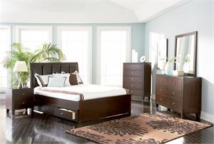 Cappuccino Storage Bedroom Set - Loretta Collection 201511