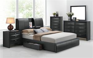 Kofi Platform Bed with Storage,21270 acme