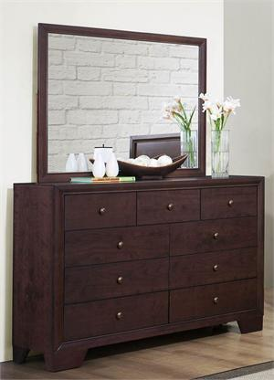 Dresser & Mirror - Kari Collection by Homelegance Item 2146-5 & 2146-6