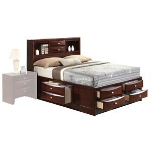 Ireland Espresso Storage Bed Item 21600Q