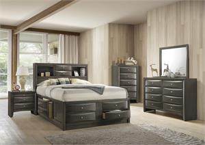 Ireland Gray Oak Storage Bedroom Set