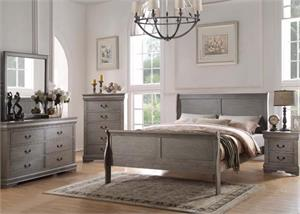 Louis Philippe Antique Gray Bedroom Collection,23860 acme