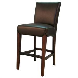 Milton Leather Bar Stool Coffee Bean Color Item 268530B-206