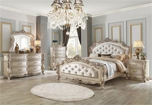 Gorsedd Collection Antique White Finish Bedroom Set