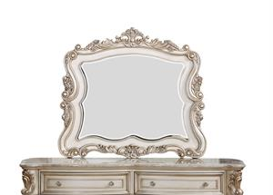 Gorsedd Collection Antique White Finish Mirror by Acme 27444