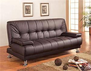 Futon/Sofa Bed Style 300148 by Coaster ,brown finish