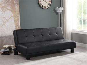 Zeke Tufted Upholstered Sofa Bed Black by Coaster Item 300163
