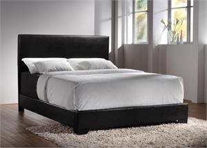 Queen Black Leather Bed,300260Q by coaster furniture