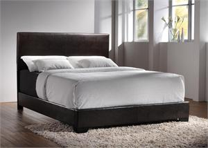 Queen Espresso Leather Bed by Coaster