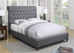 Devon Grey Upholstered Bed,300527 coaster