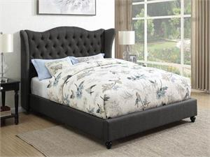 Newburgh Upholstered Charcoal Bed,300740 coaster