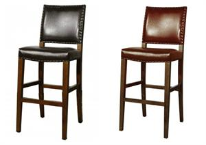 Rowan Leather Counter Height Stool by New Pacific Direct