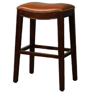 Pumpkin Elmo Leather Counter Stool by New Pacific Direct
