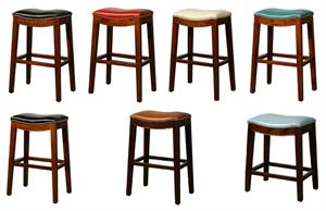 Elmo Leather Bar Stool by New PAcific Direct