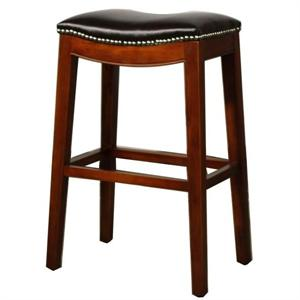 Brown Elmo Leather Counter Stool by New Pacific Direct