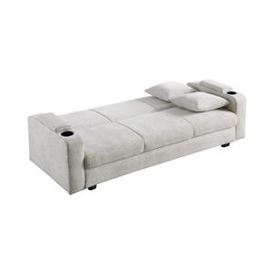 Izzy Upholstered Sofa Bed with Cup Holders Off-white by Coaster Item 360116