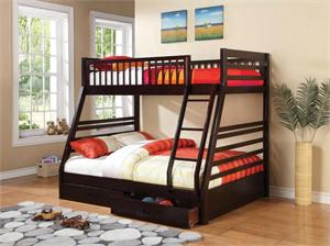 Cooper Cappuccino Twin over Full Bunk Bed 460184,460184 coaster
