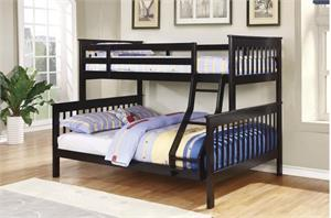 Chapman Twin/Full Bunk Bed with 2 Mattress,460259 coaster
