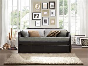 Roland Dark Brown Daybed with Trundle,4950 homelegance