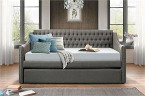 Dark Grey Day Bed Tulney Collection,4966 homelegance,4966dg homelegance