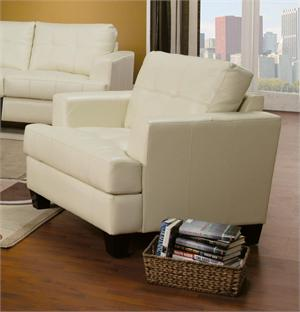 Cream Leather Chair Samuel Collection