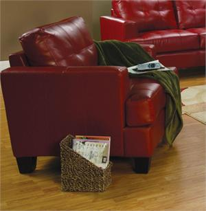 Red Leather Chair - Samuel Collection