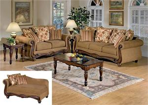Sofa and Loveseat Olysseus Brown Collection,50310 by acme,50311 by acme