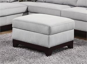 Velvet Blue Grey Ottoman Mason Collection item 503616 by Coaster Furniture