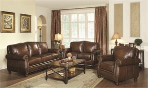 Montbrook Leather Sofa Collection,503981 coaster,503982 coaster,503983 coaster