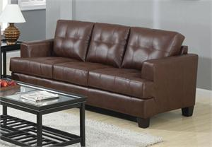 Brown Leather Sofa - Samuel Collection by Coaster