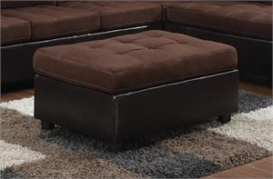 Chocolate Microfiber Ottoman - Mallory Collection by Coaster item 505656