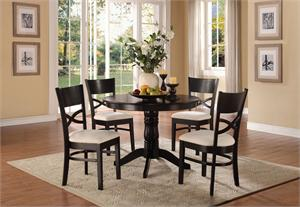 Clancy Collection 5 Piece Pedestal Dining Set,5067 homelegance