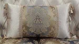 orsedd Collection Antique White Finish Sofa Set Accent Pillow