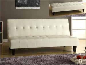 White Futon - Freeman Collection by Crown Mark item 5260-WH