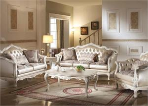 Chantelle Pearl White Sofa Collection,53540 acme,53541 acme,53542 acme
