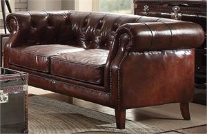 Aberdeen Top Grain Leather Loveseat